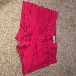 Pink old navy low rise jean shorts